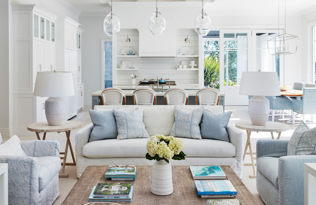 transitional living room white and...