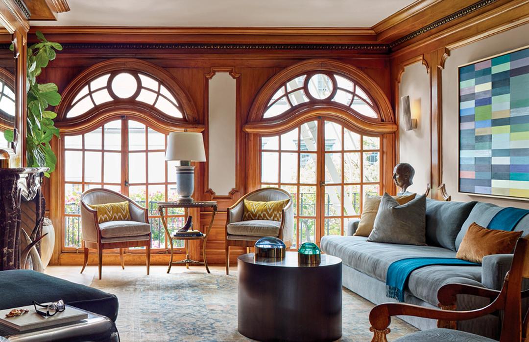 contemporary living room den brown