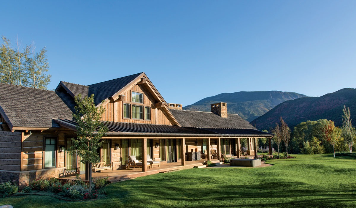 rustic exterior and landscape