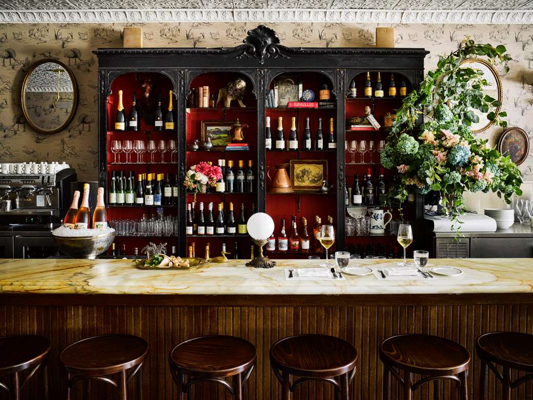 Inside A Chic Wine Bar With Unmatched Parisian Vibes