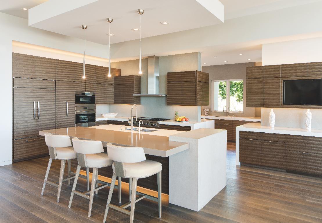contemporary neutral kitchen