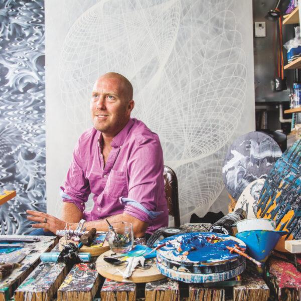 Color & Pattern Collide In Douglas Hoekzema's Murals