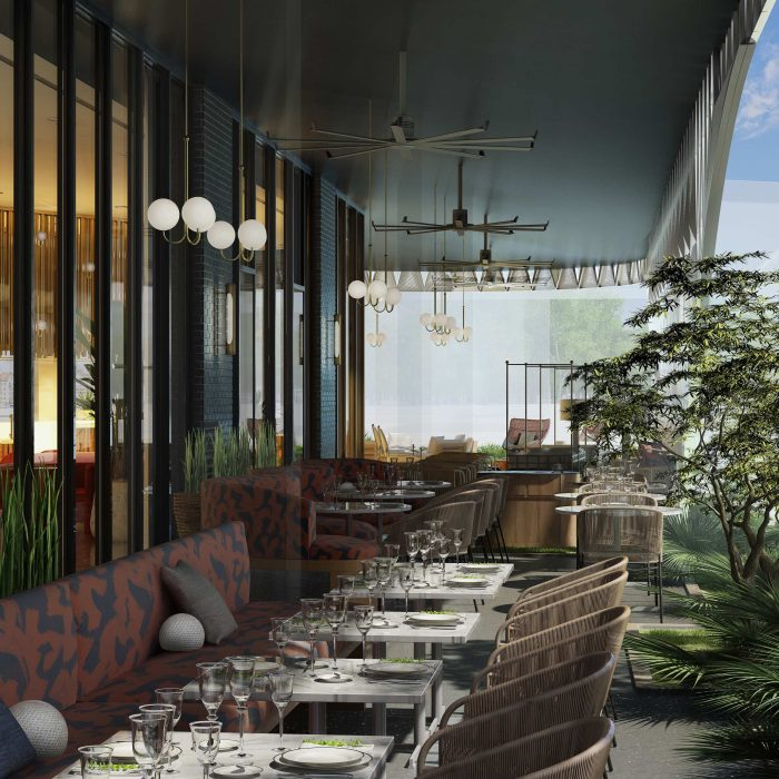 Outdoor View of Commons Club at Virgin Hotels Dallas