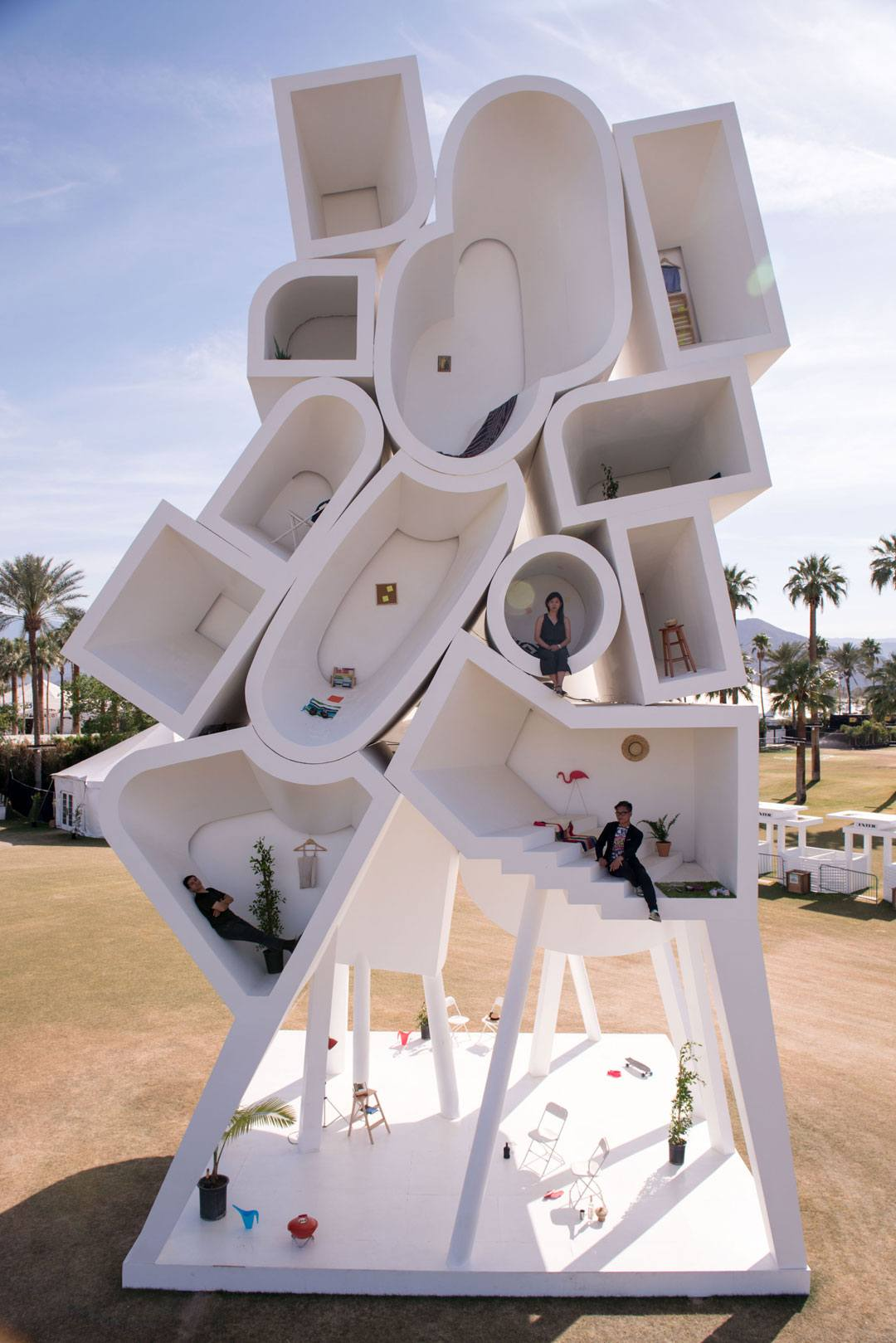 Tower of Twelve Stories by Bureau Spectacular in the Coachella Valley.