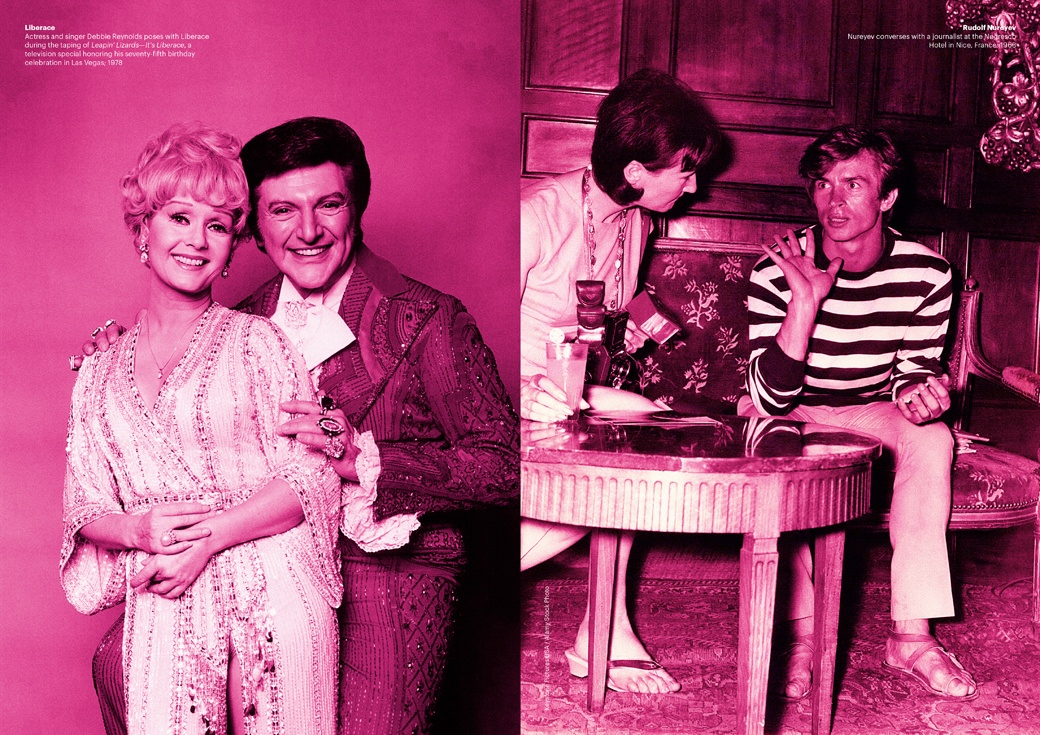 Liberace and Rudolf Nureyev are depicted in Doug Meyer's book