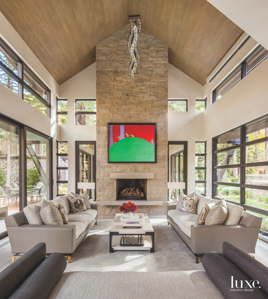 modern neutral living area limestone...