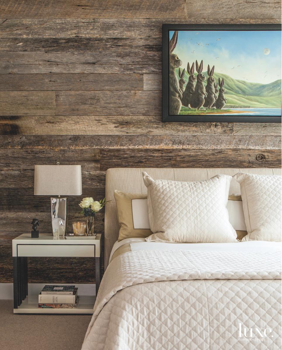modern bedroom white bed reclaimed...