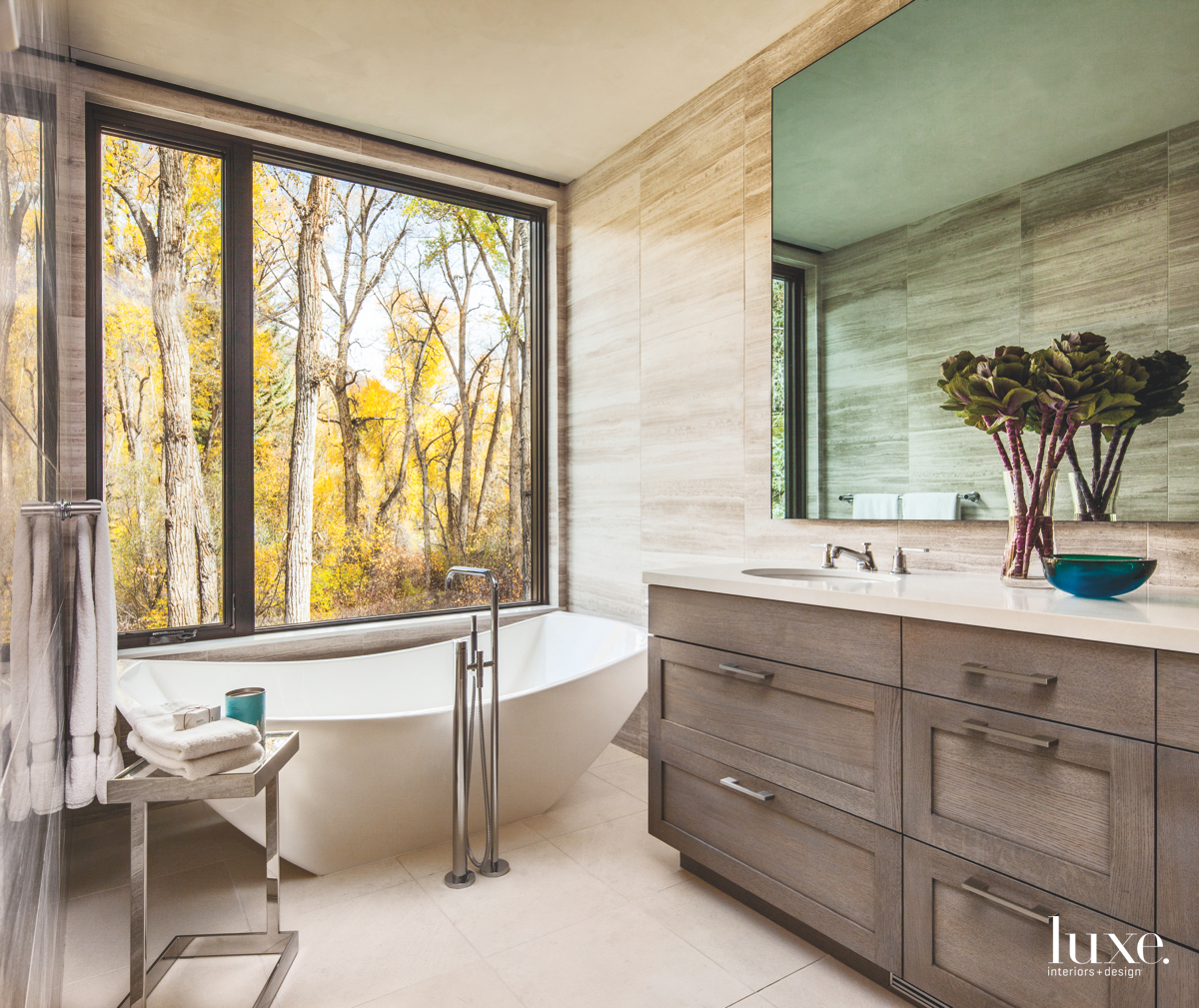 modern bathroom window bathtub