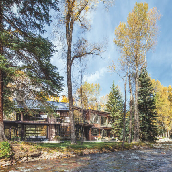 Organic Details Cozy Up An Aspen Riverfront Home