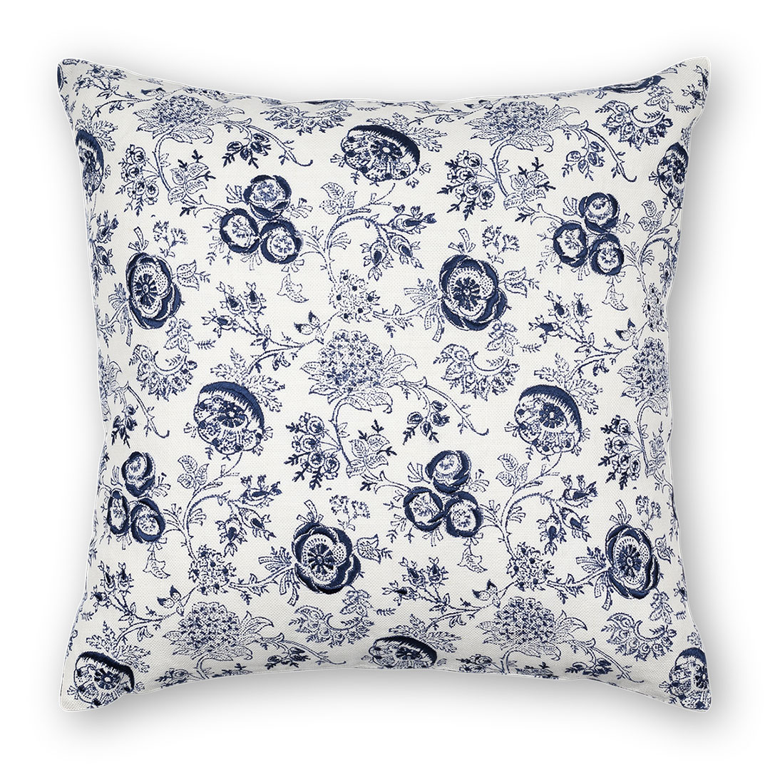 Eloquence Pillow, Navy ($95)