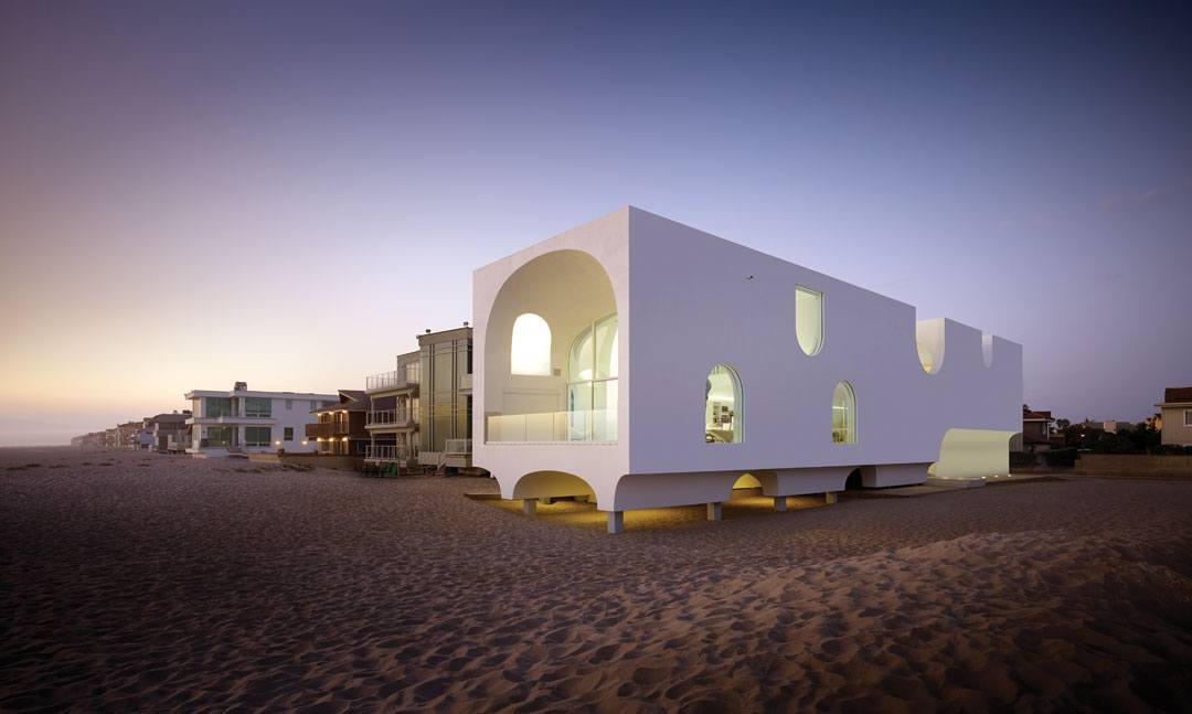 """Los Angeles architects Sharon Johnston and Mark Lee, who redefined beach house living with the Vault House, are also reinventing ways to show art, as with their work on the """"Moholy-Nagy: Future Present"""" exhibition at LACMA."""