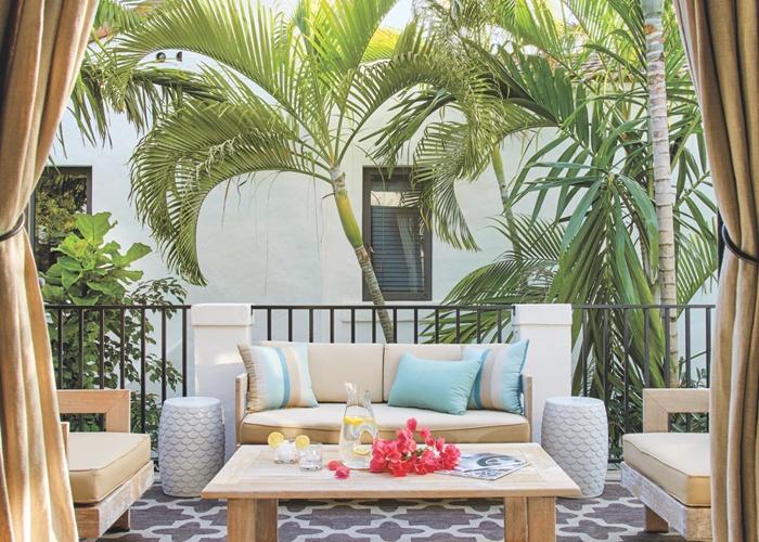 mediterranean neutral outdoor sitting area...