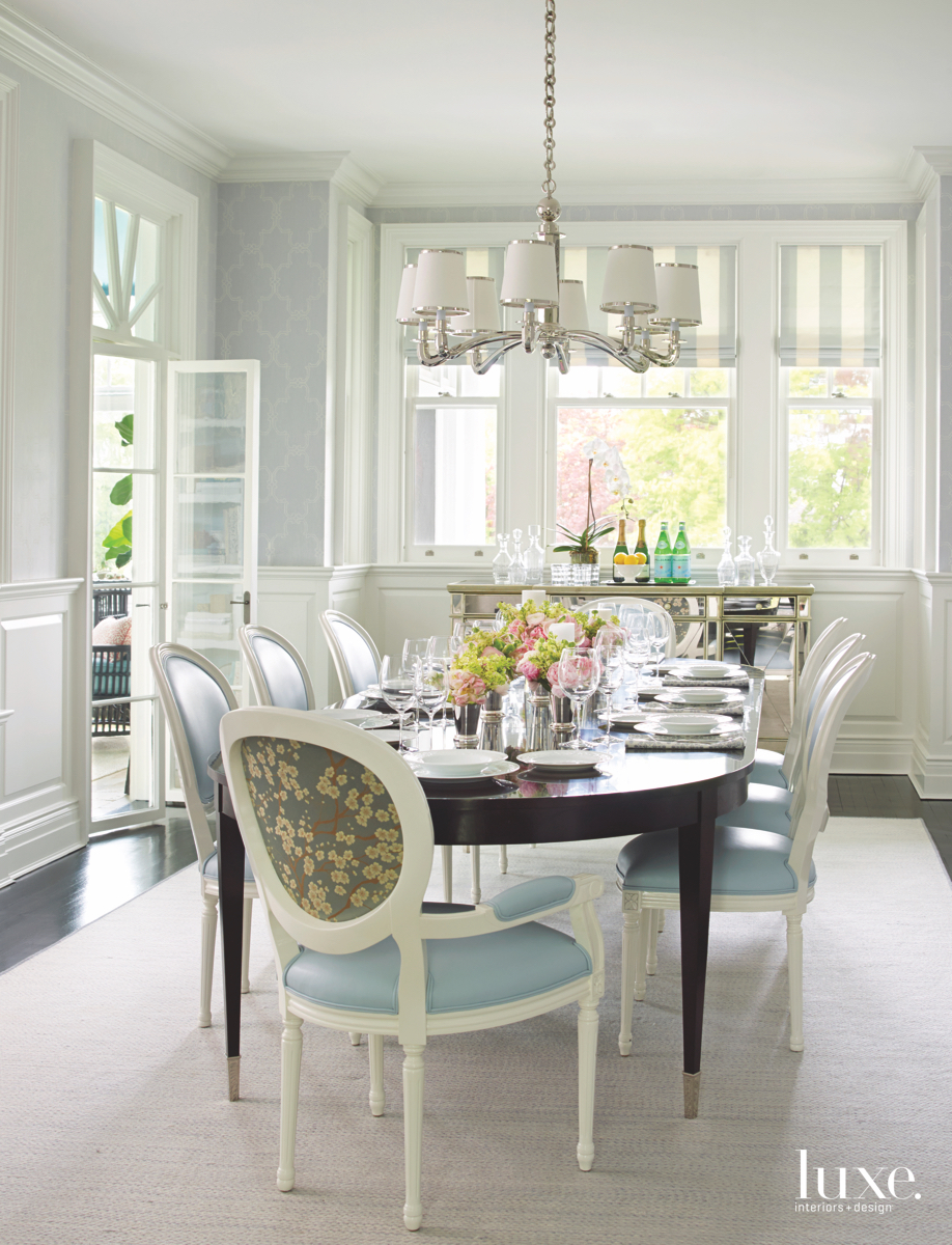 contemporary dining room chandelier blue...