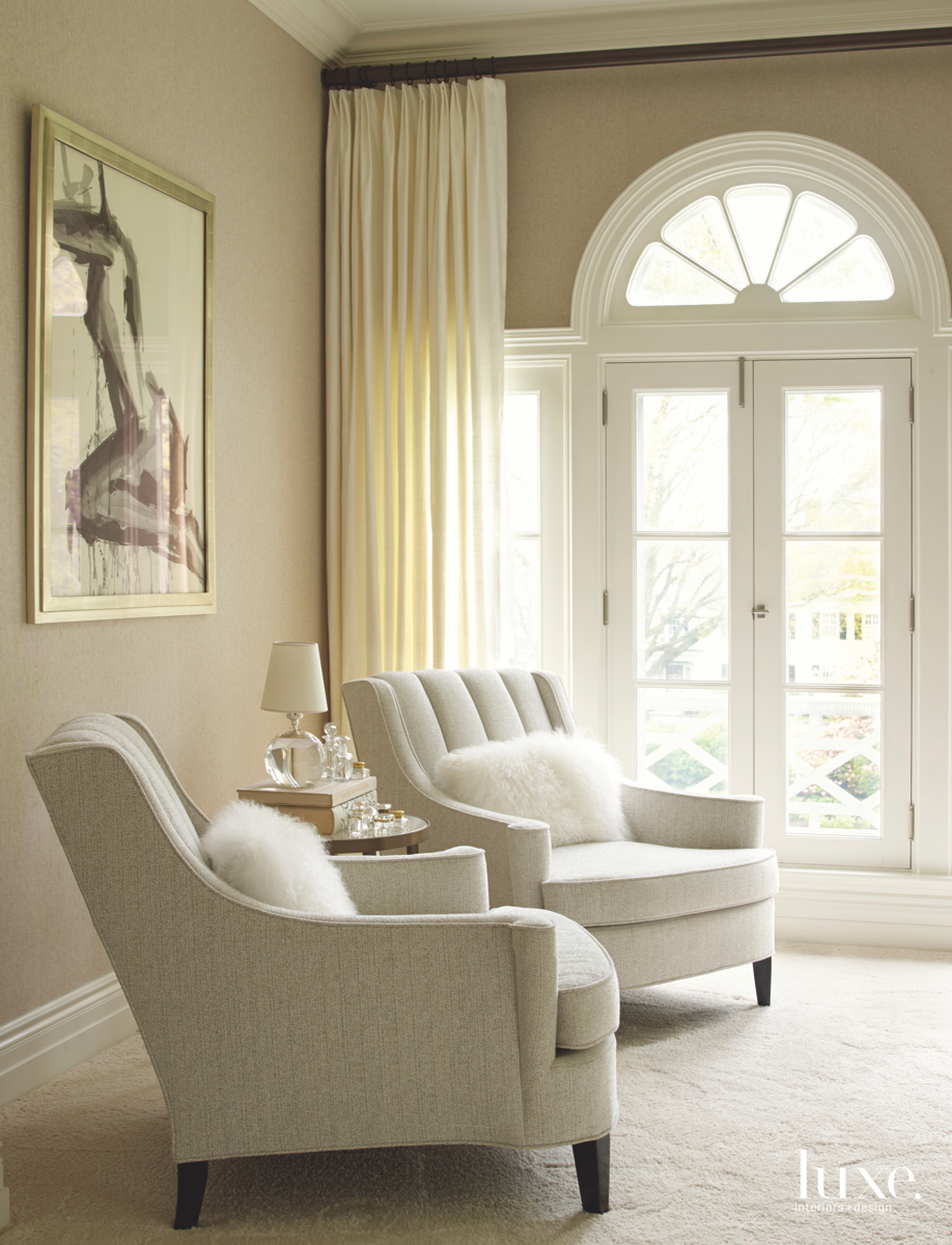 contemporary neutral seating area faux-fur...