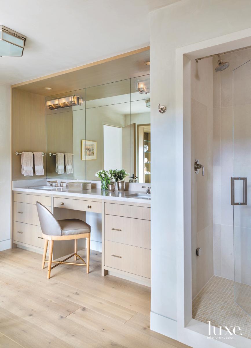 contemporary bathroom white oak vanity...