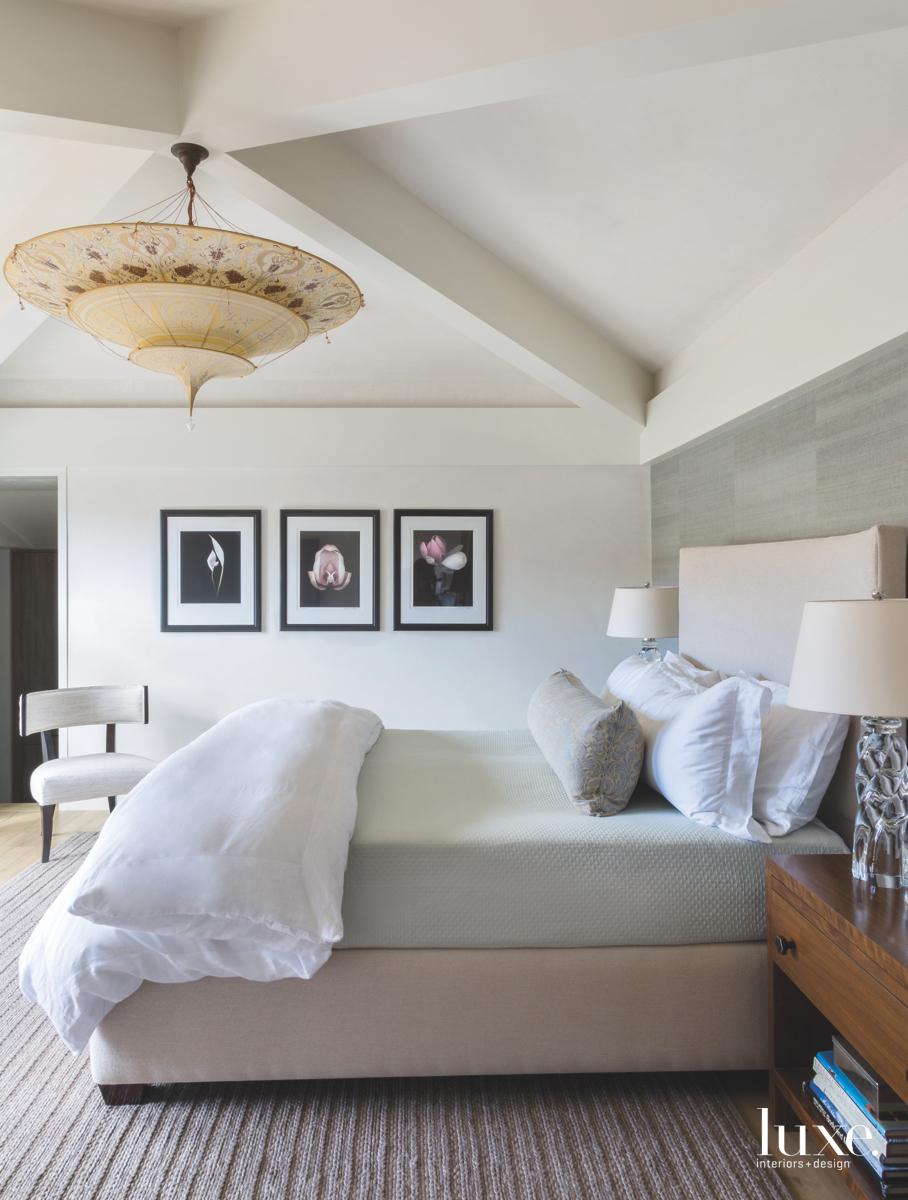 contemporary bedroom neutral platform bed