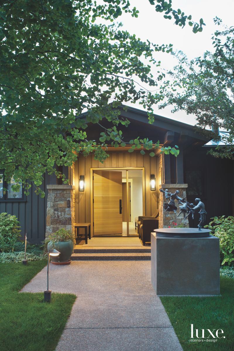 contemporary exterior entry
