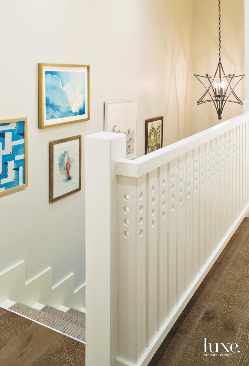 modern neutral white stairway