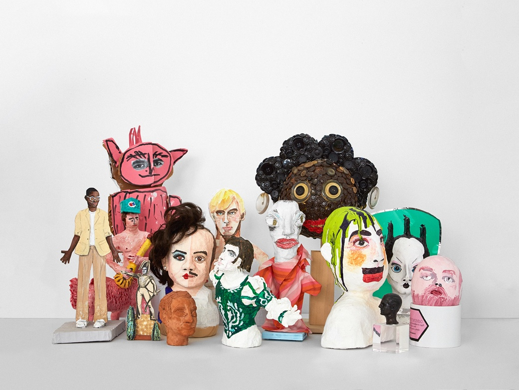 "3D portraits of some of the 50 creatives included in ""Heroes: A Tribute."""
