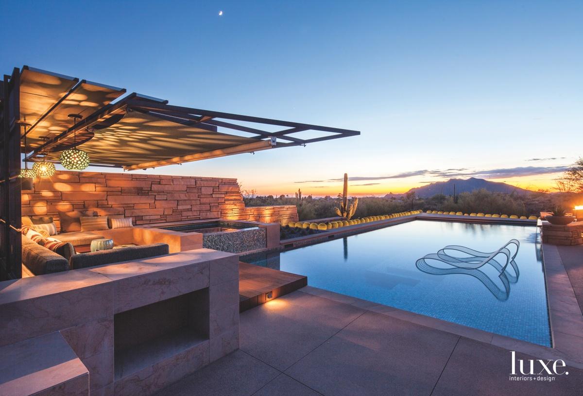 modern exterior pool landscape