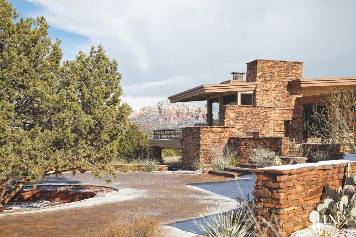 transitional exterior landscape sandstone red
