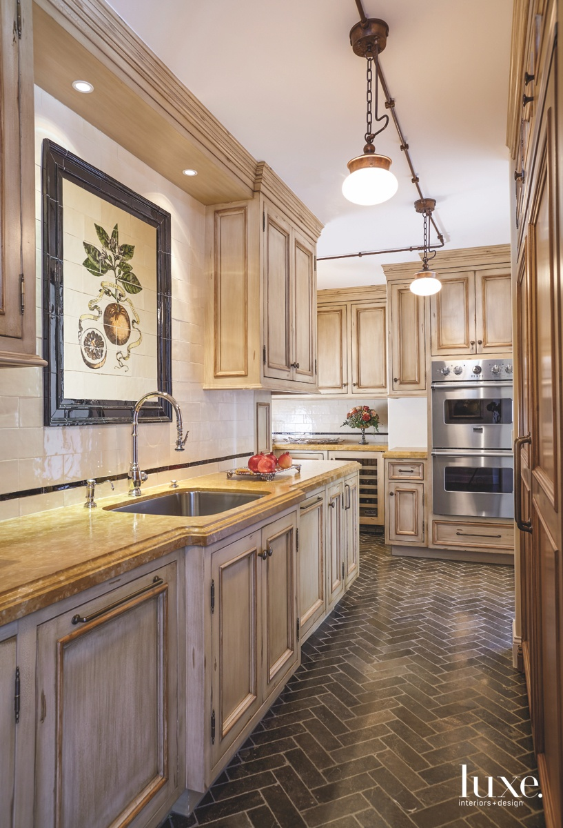 traditional neutral kitchen cabinetry tile...