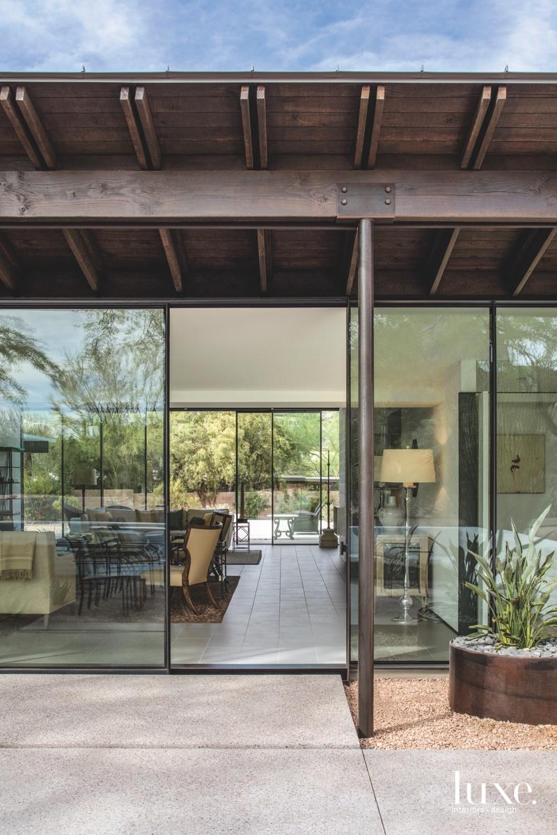 modern exterior entry glass door
