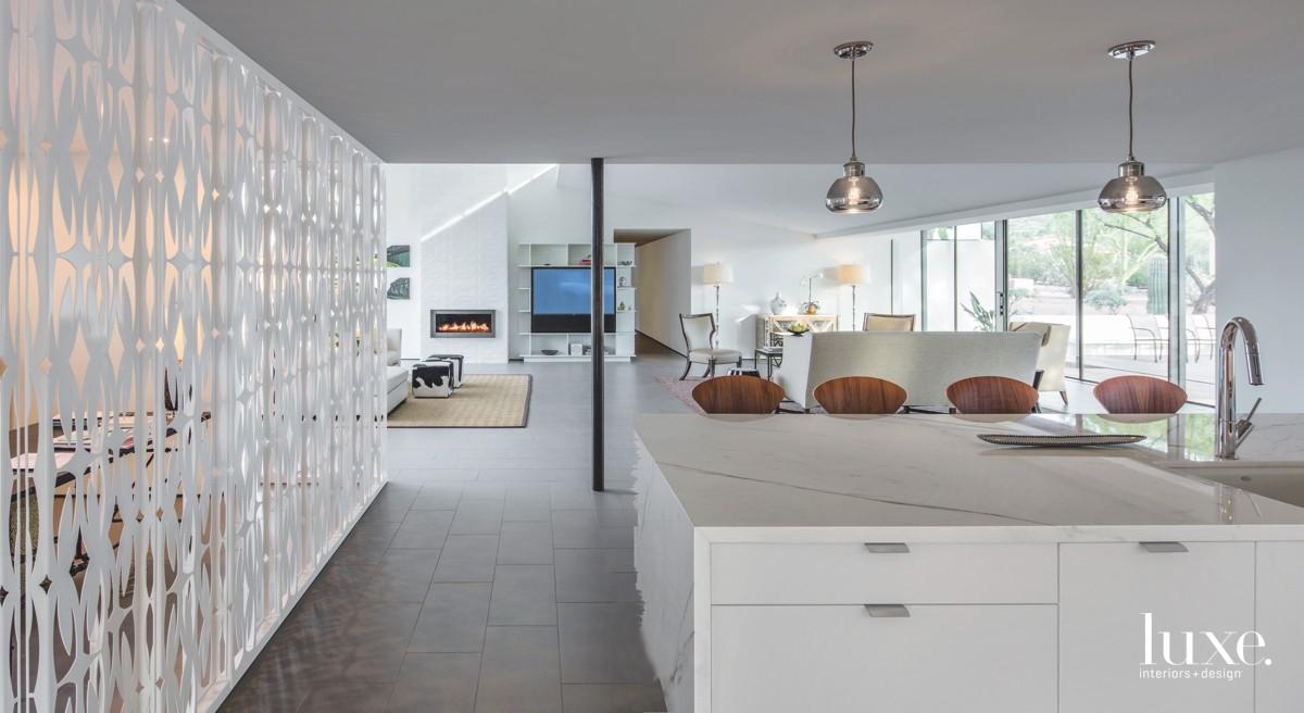 modern white kitchen white screen