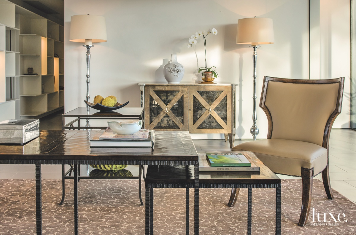 modern neutral living area chair