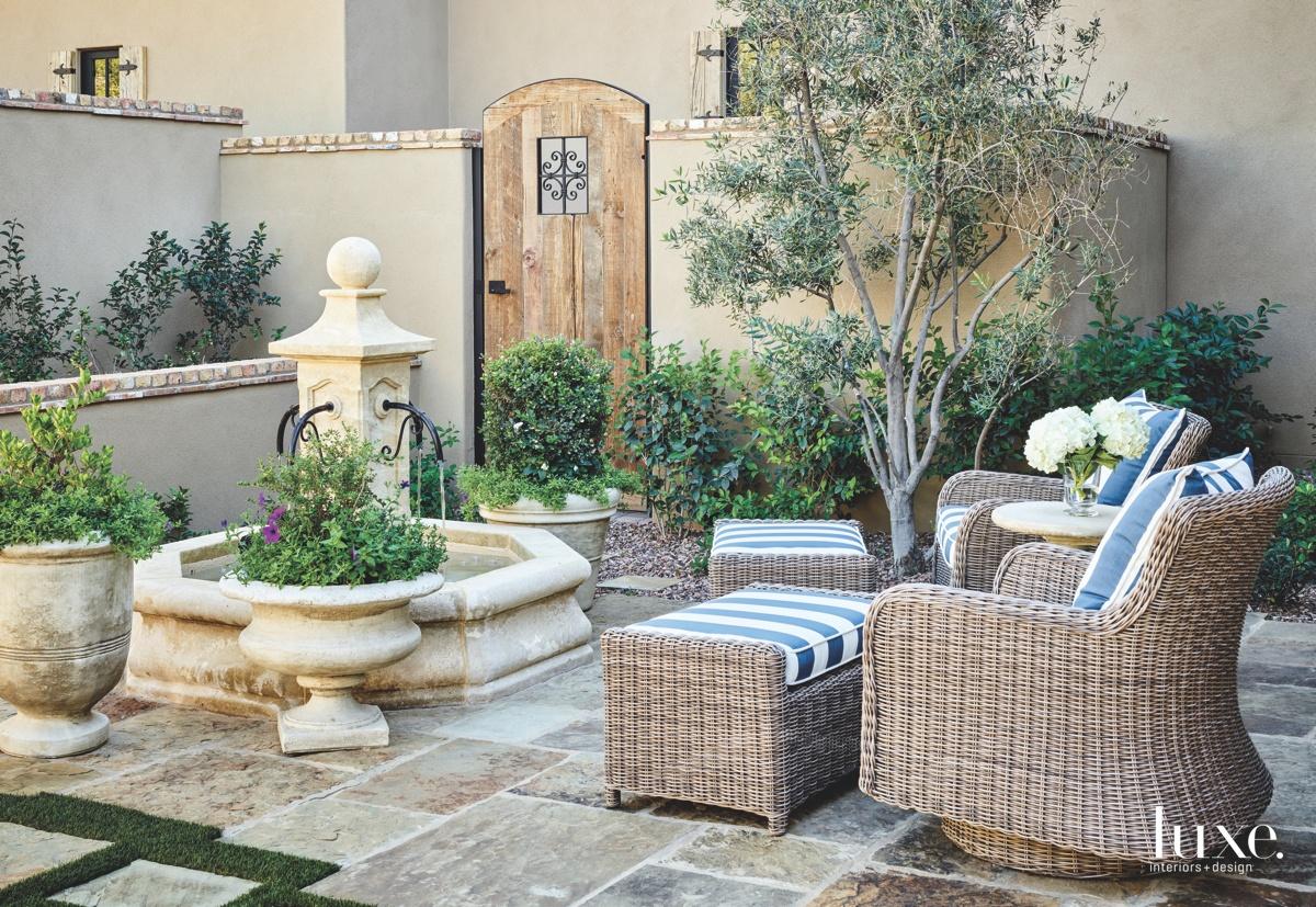 mediterranean outdoor sitting area