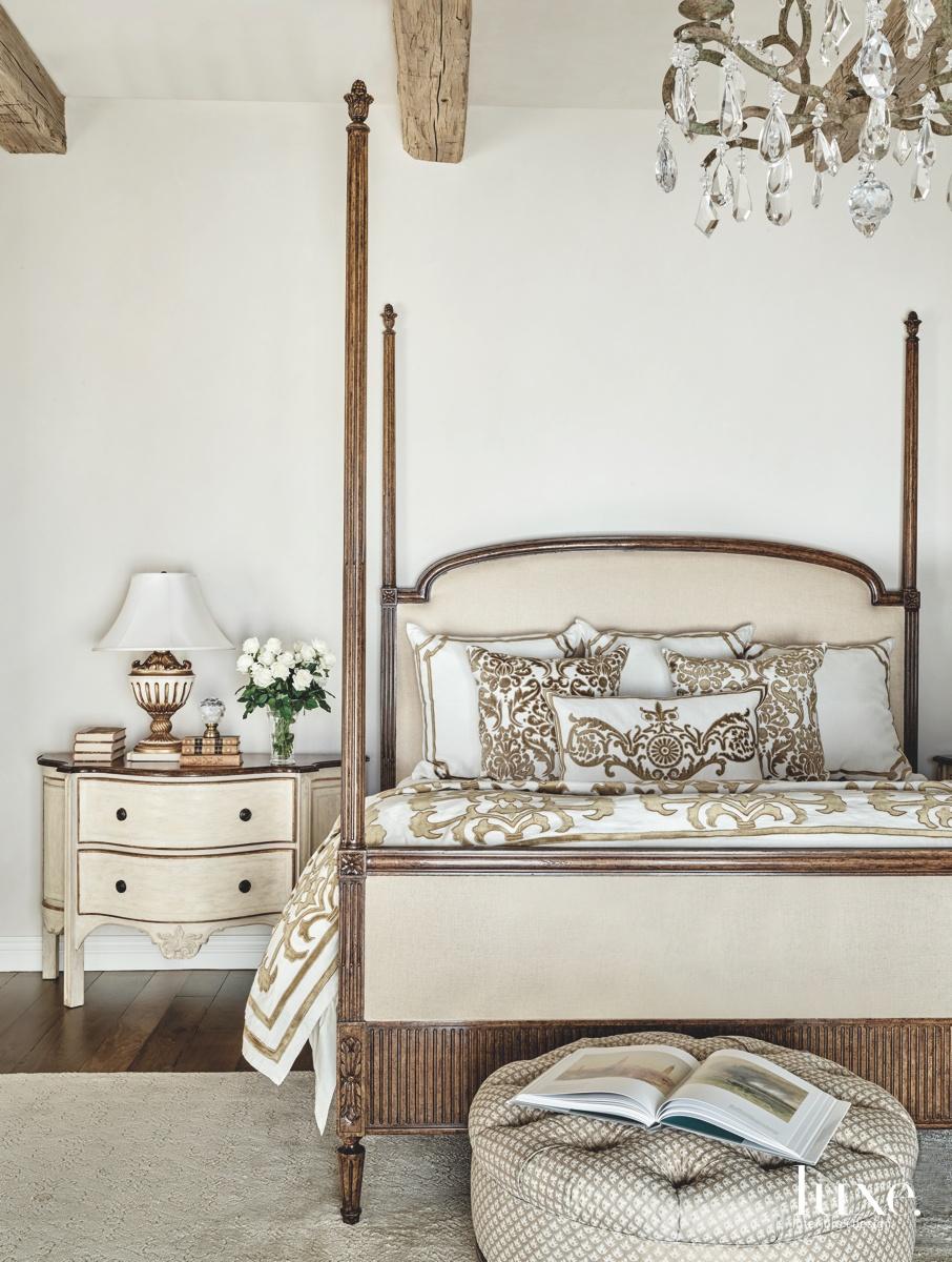 mediterranean bedroom white brown neutral