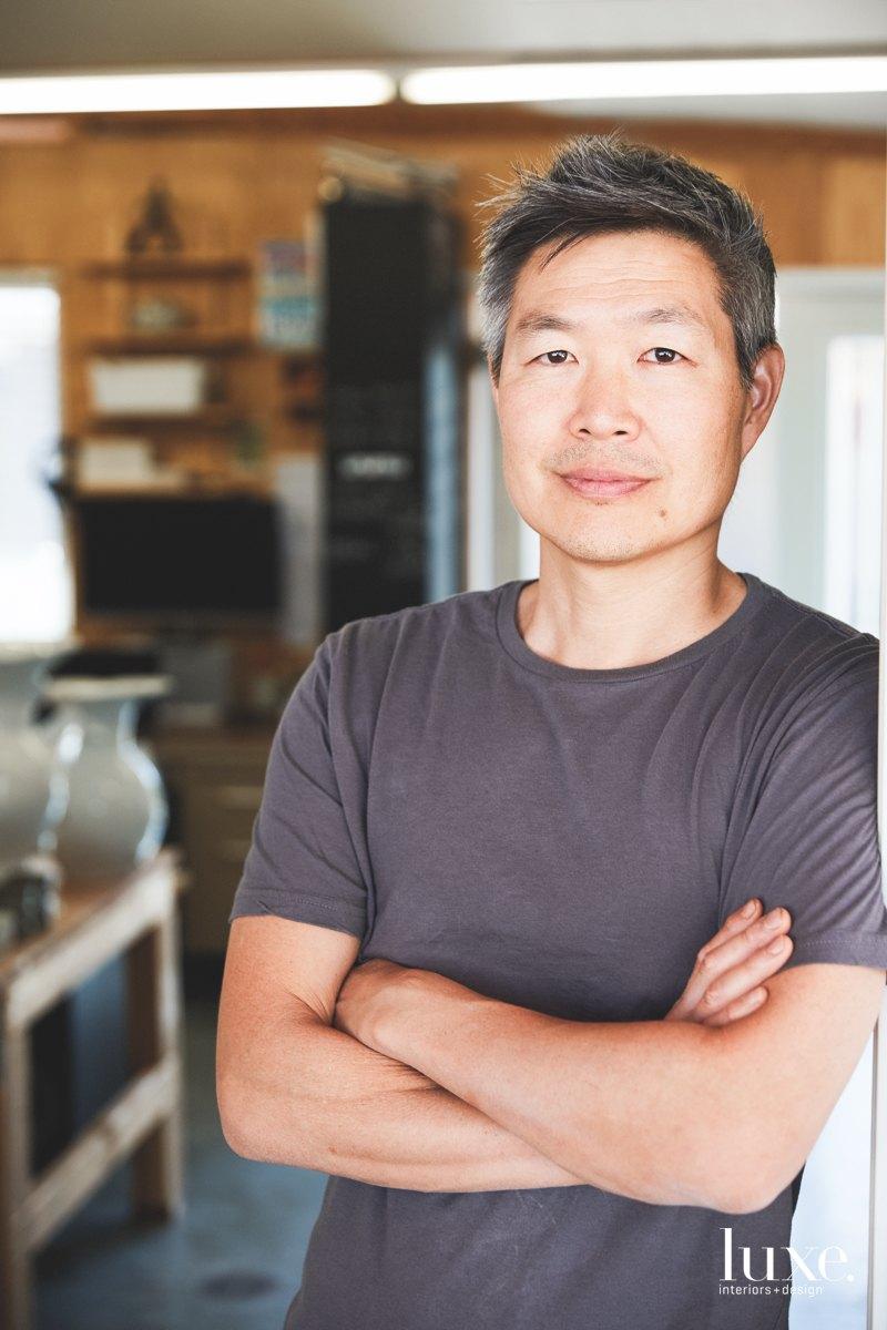 Chung creates pieces with a minimalist elegance.