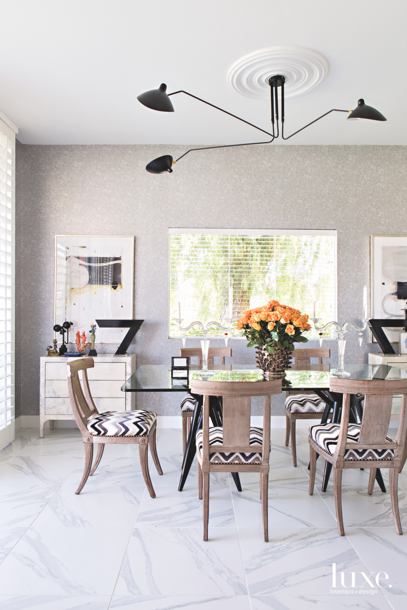 contemporary dining room neutral with...