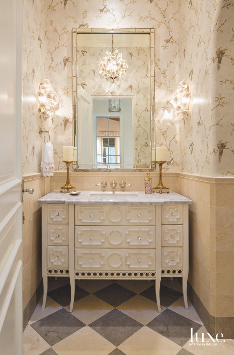 contemporary bathroom vanity neutral beige