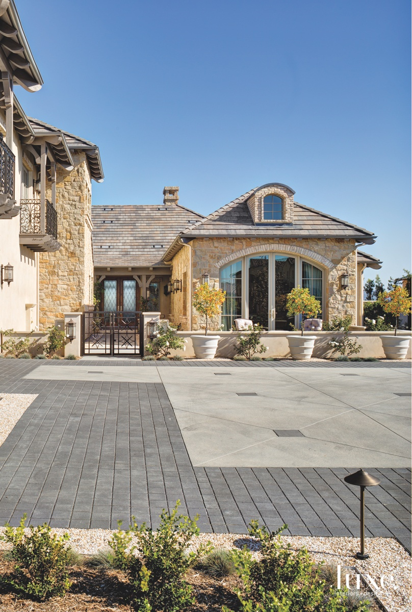 contemporary entry neutral driveway exterior