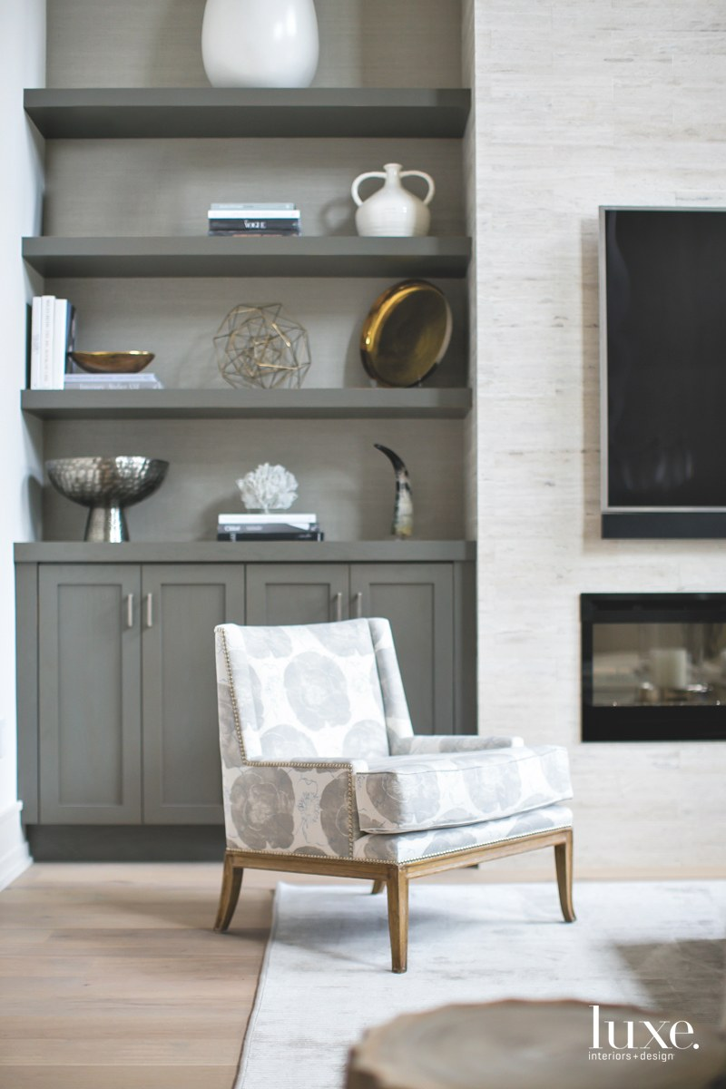 contemporary great room warm gray...