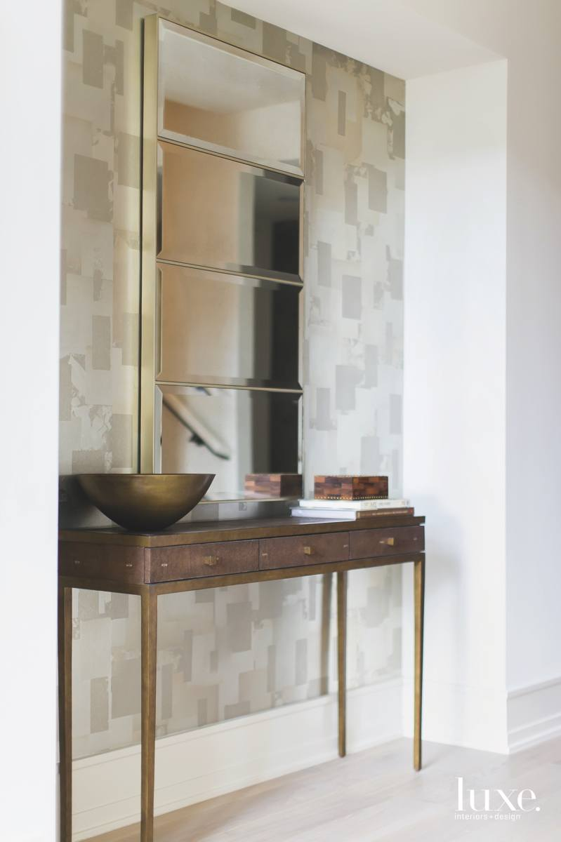 contemporary entry gold and brown...