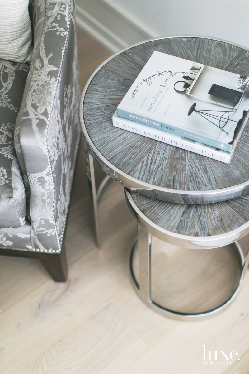 contemporary gray-toned palette living room...
