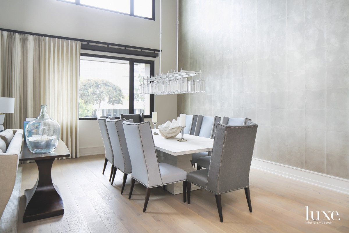 contemporary gray dining room