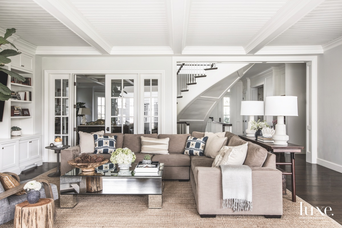 contemporary neutral family living room...
