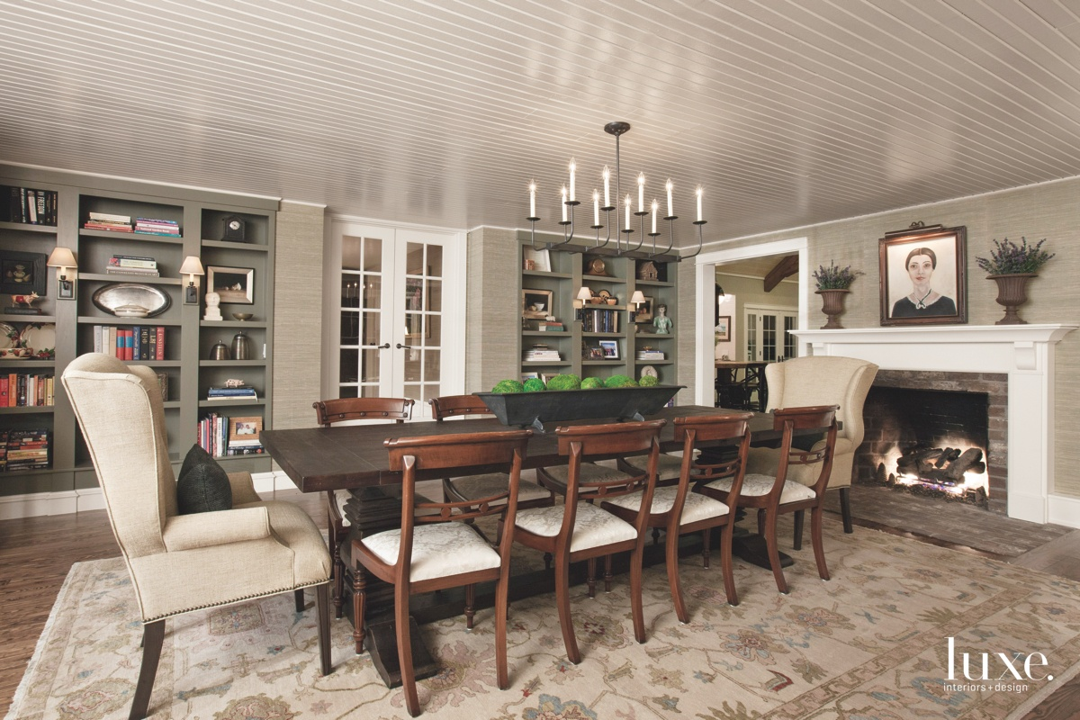 farmhouse neutral dining room low...