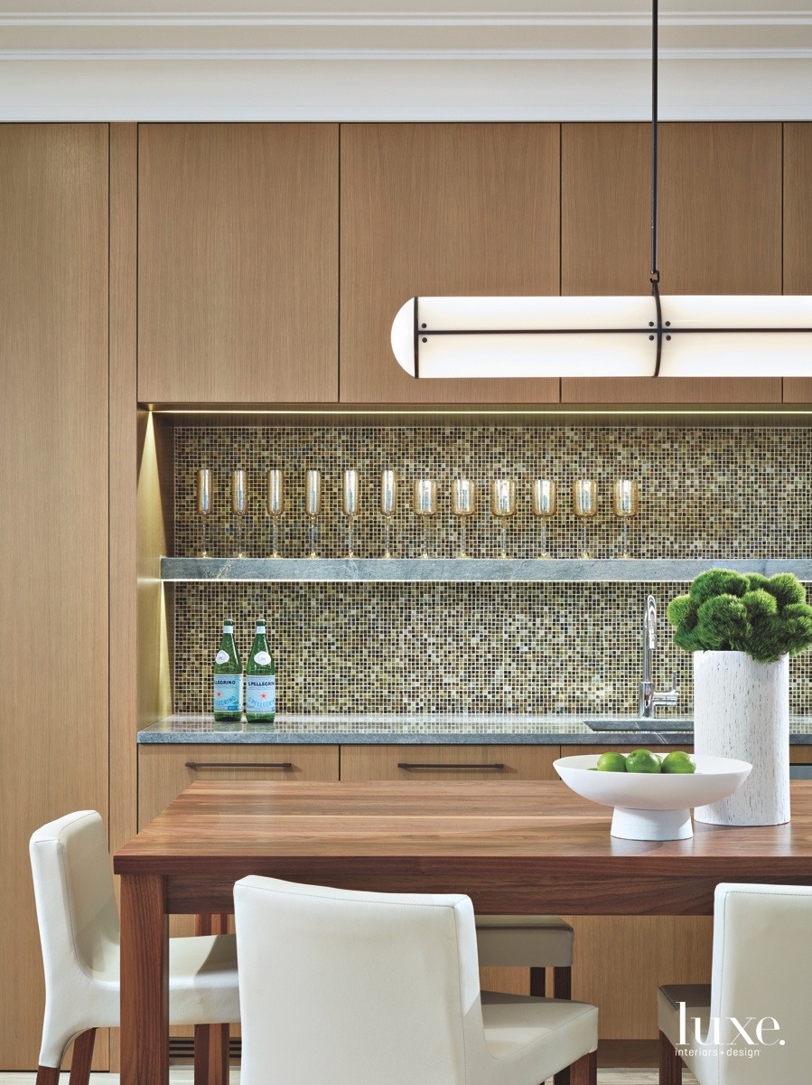 contemporary dining room bar