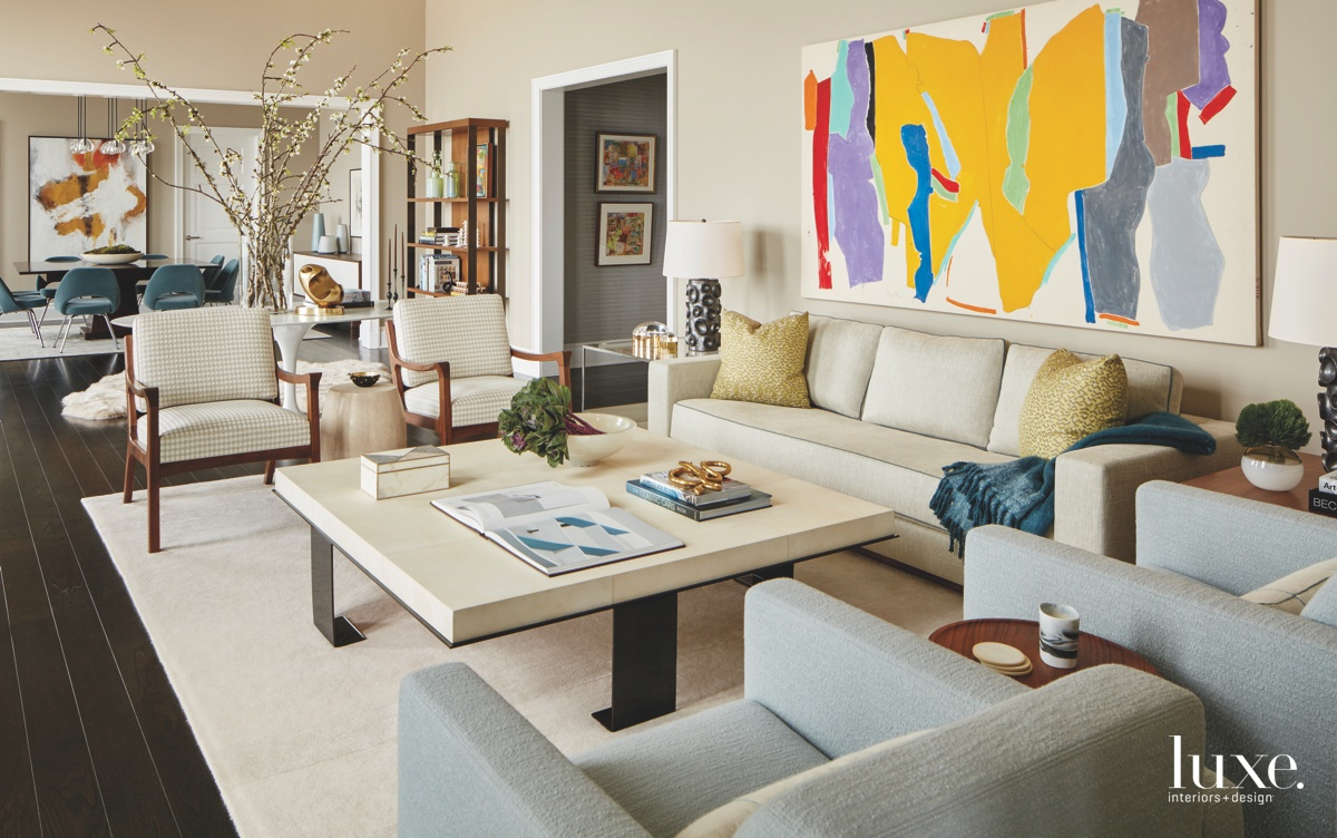 transitional neutral living room abstract...