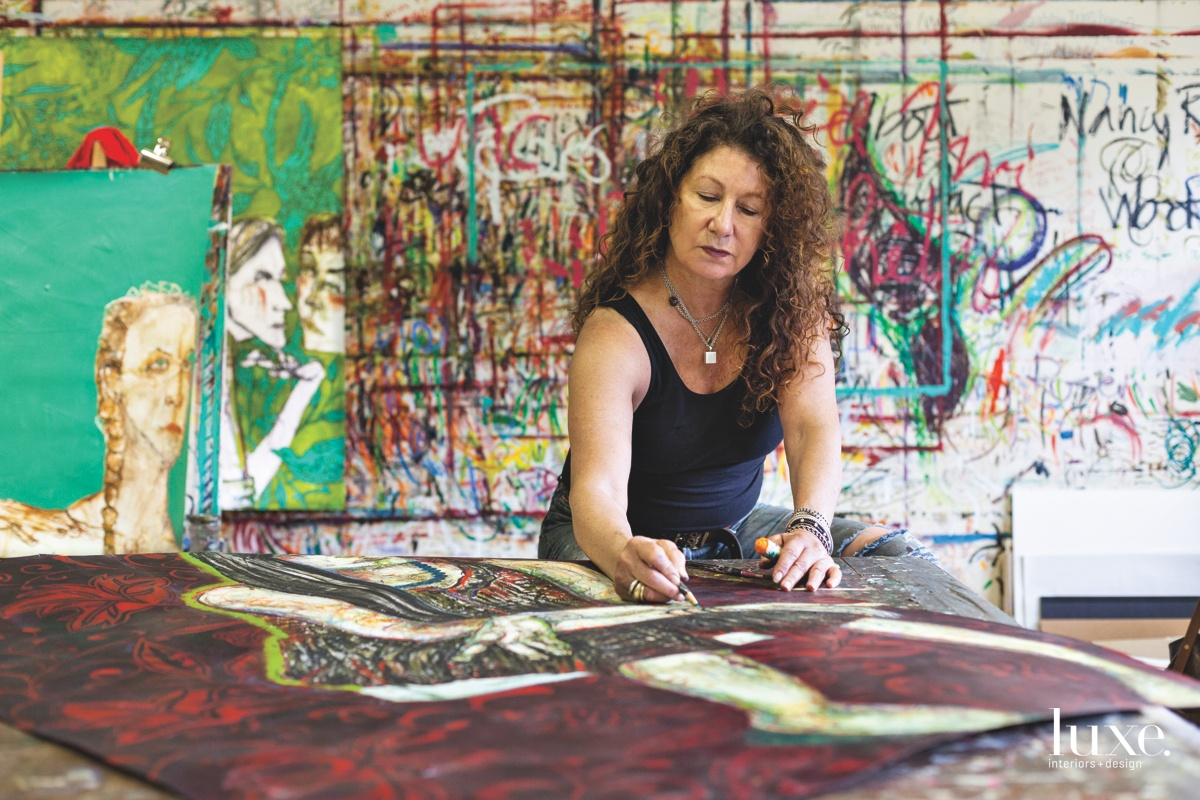 Artist Nancy Rosen has gained a following through the Netflix comedy Grace and Frankie.