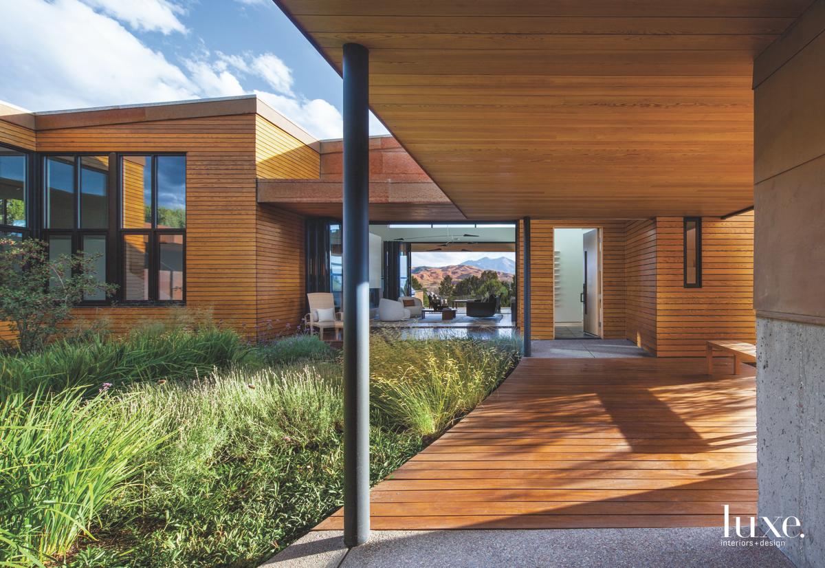 modern wood exterior