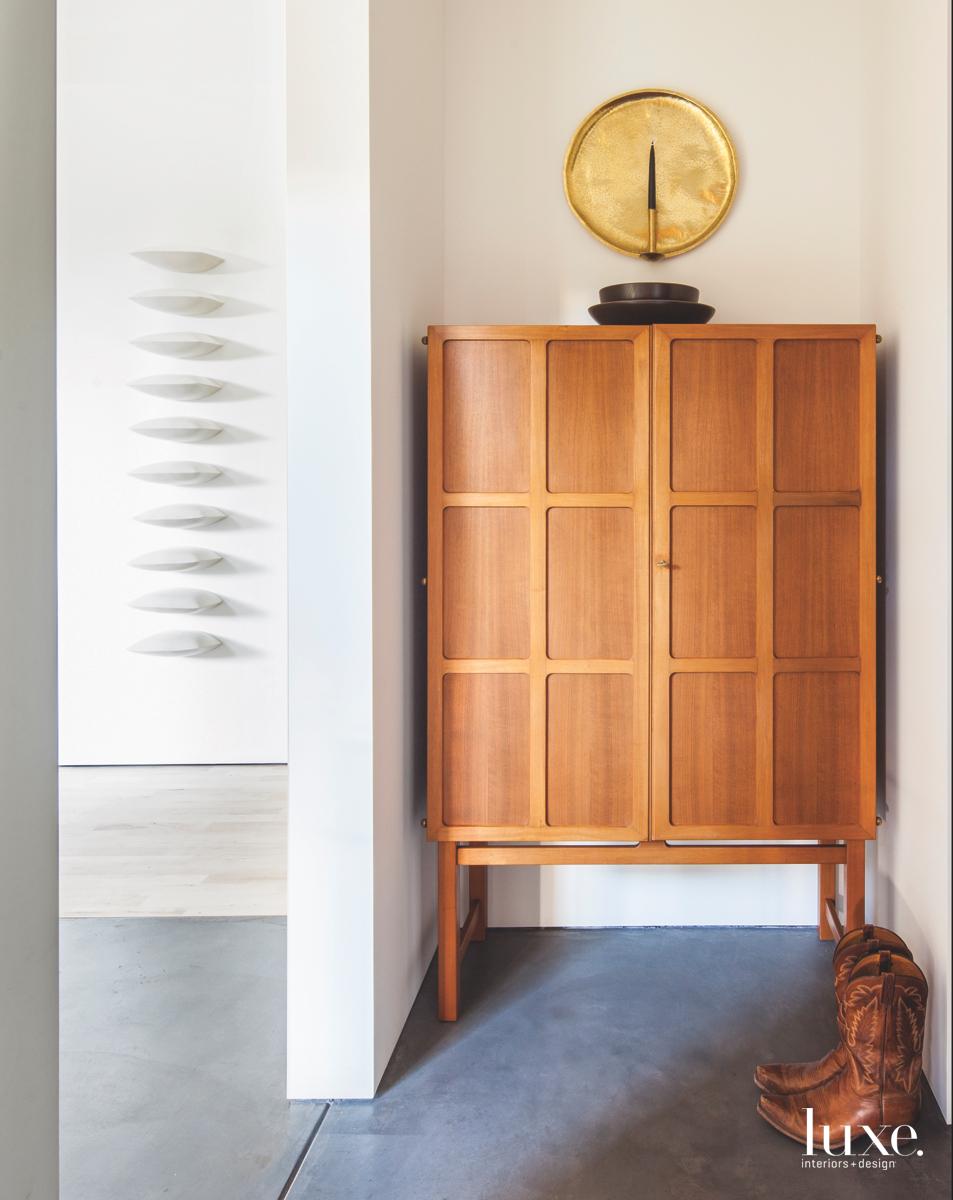 modern hall neutral cabinet
