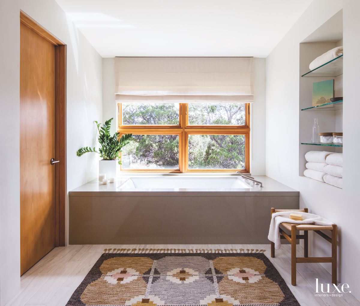 modern bathroom window bath