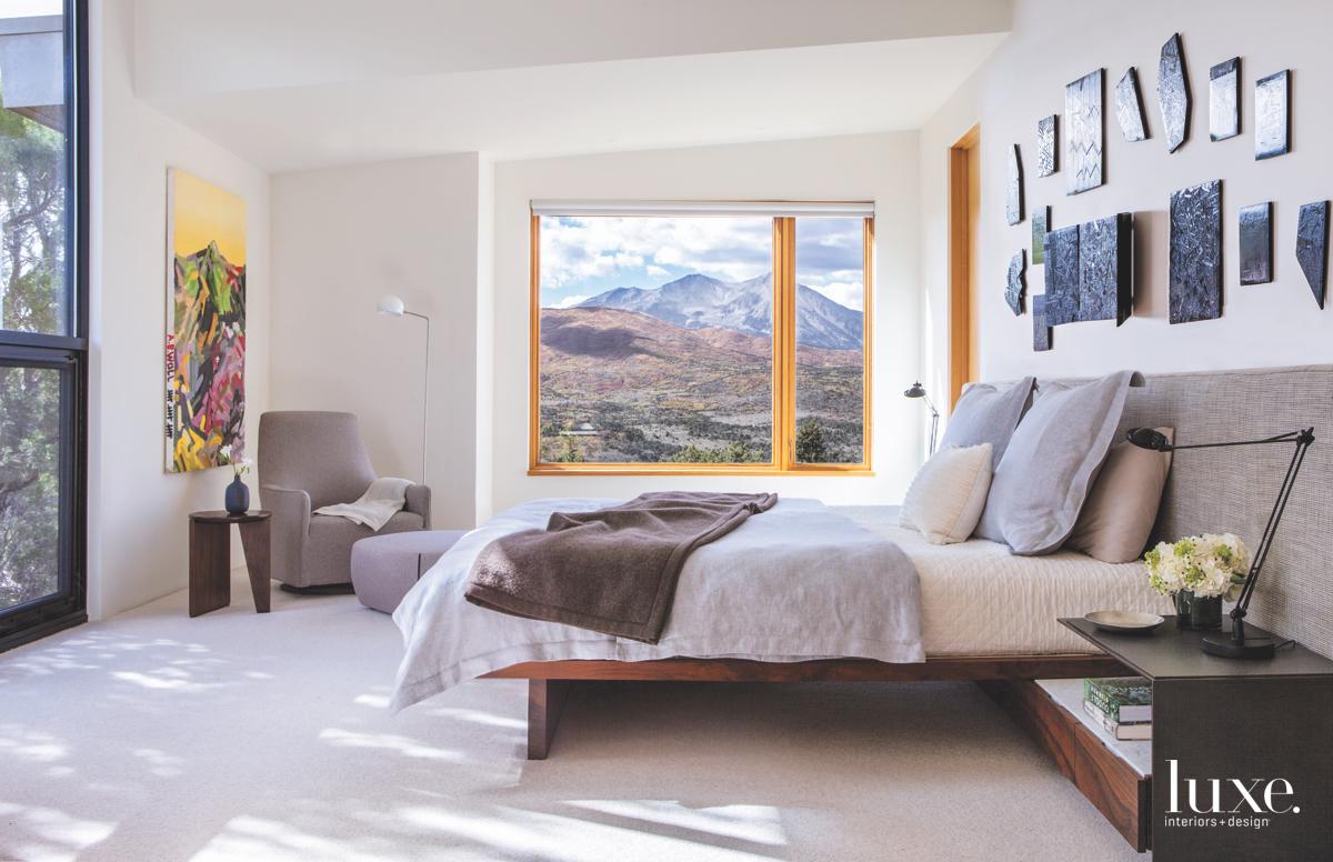 modern neutral bedroom bed window