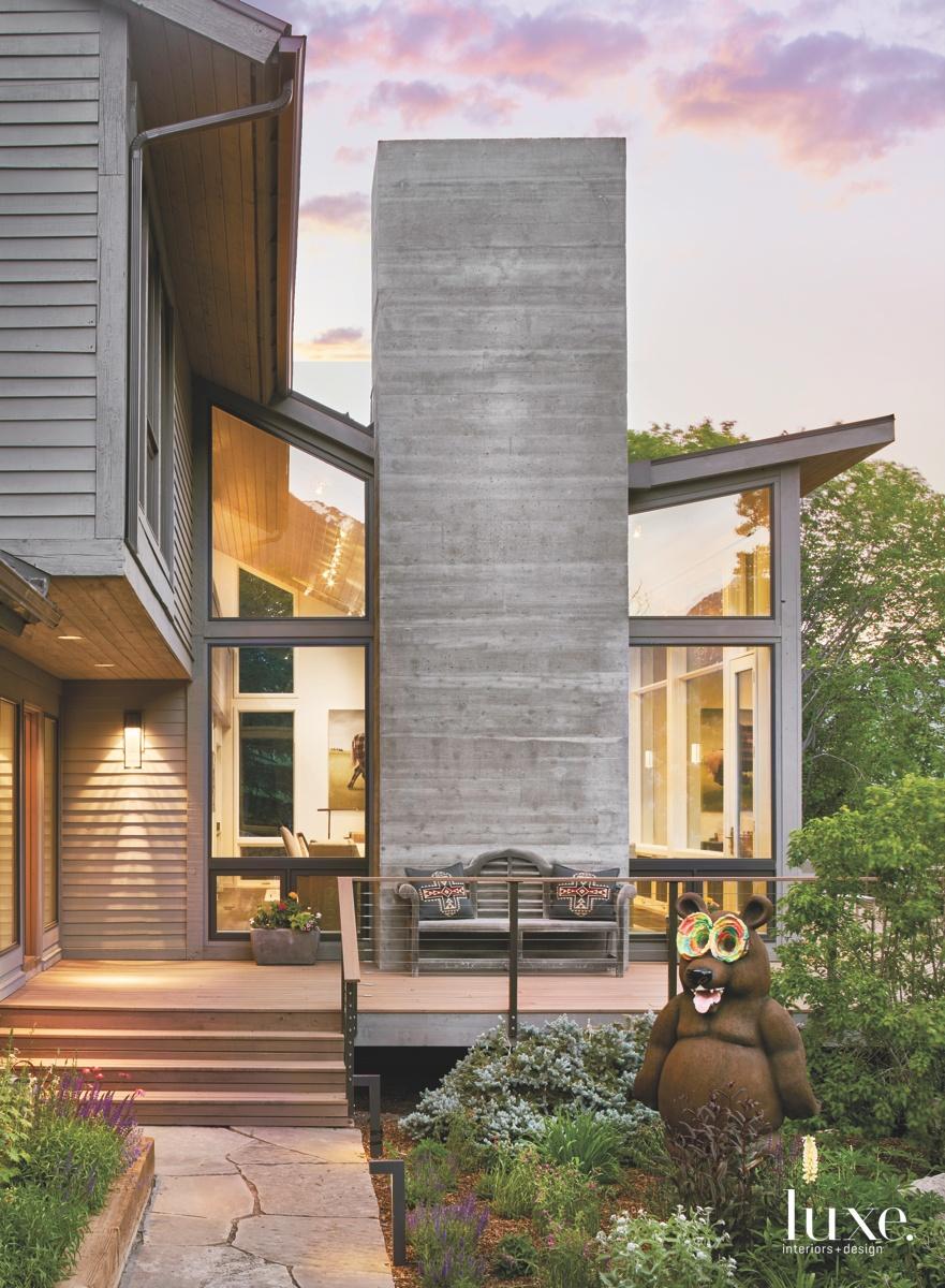 contemporary neutral exterior entry glass...
