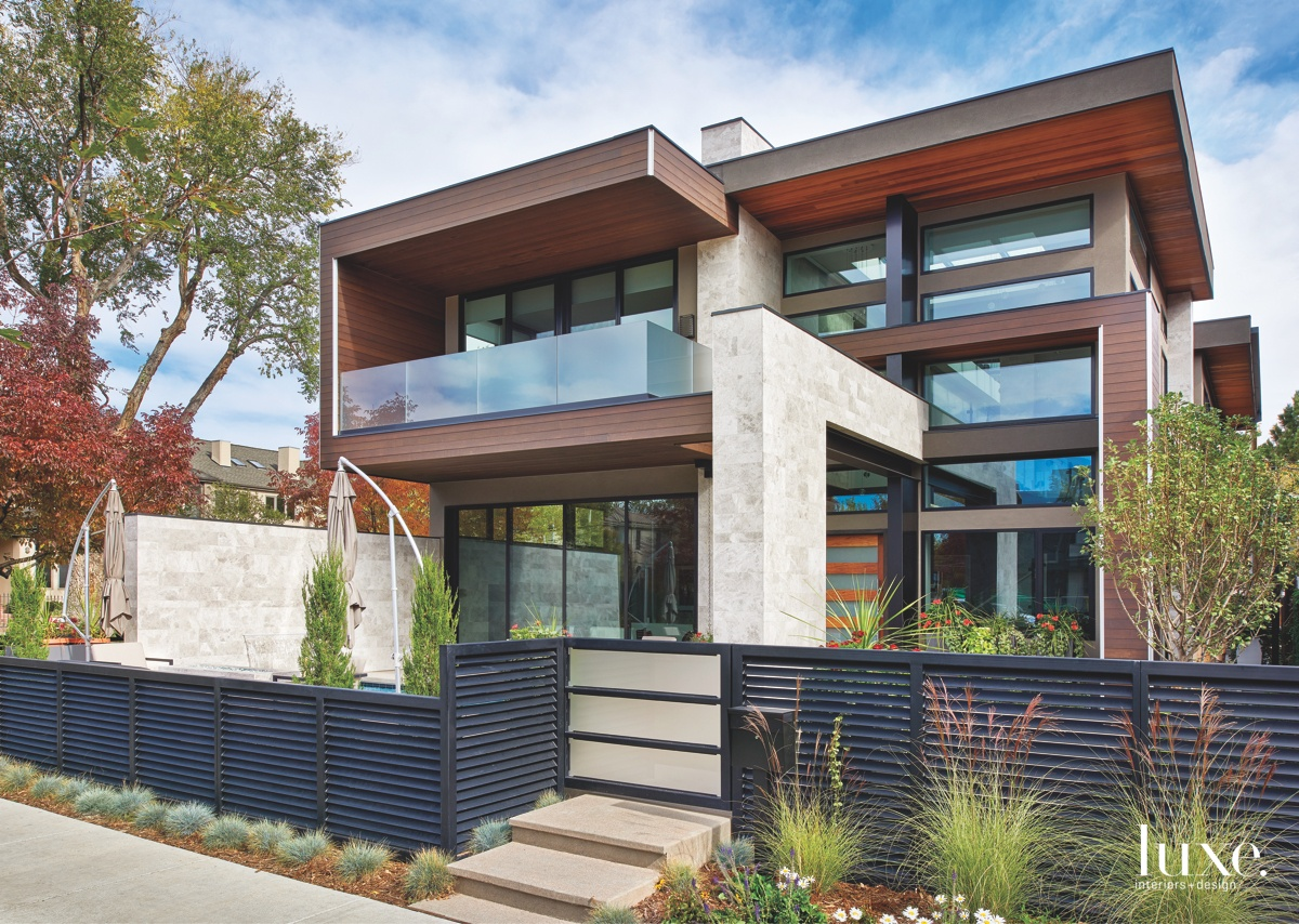 modern exterior entry brown